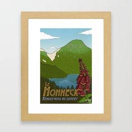 Hohneck travel poster Framed Art Print