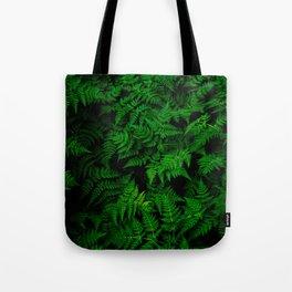 Deep Forest Ferns Tote Bag