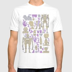 ROBOTIC / ORGANIC  Mens Fitted Tee White X-LARGE