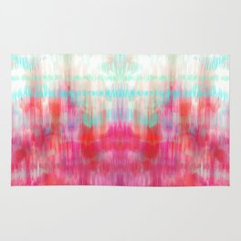 Color Song - abstract in pink, coral, mint, aqua Rug