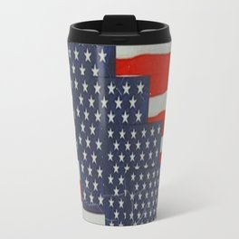 Patriotic Americana Flag Pattern Art Travel Mug