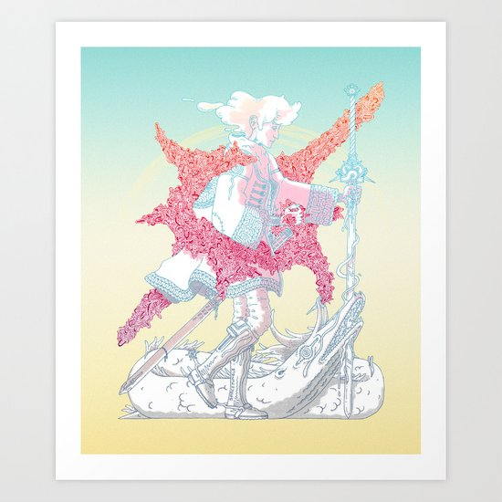 Fourth Grade Fantasy (proliferated) Art Print