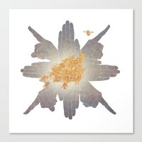 compass Canvas Prints featuring Compass by Rhea Ewing