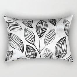 Modern Foliage Rectangular Pillow
