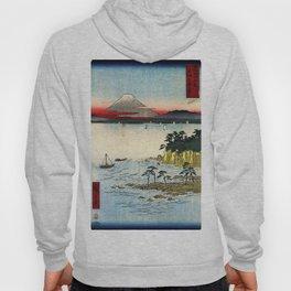 Hiroshige - 36 Views of Mount Fuji (1858) - 17: The Sea off the Miura Peninsula in Sagami Province Hoody