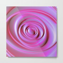 Holographic Abstract Geometric Matter - Antheia  Metal Print