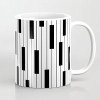 piano Mugs featuring Piano by beach please