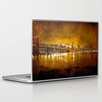 brooklyn bridge Laptop & iPad Skins featuring Brooklyn Bridge by Svetlana Sewell