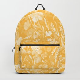Upside Floral Golden Yellow Backpack