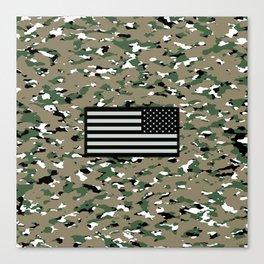 Camouflage: Woodland V Canvas Print