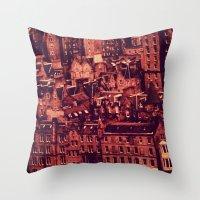 edinburgh Throw Pillows featuring Edinburgh by Molly Smiles