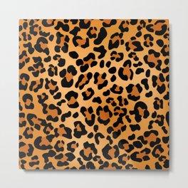 Desert leopard Metal Print