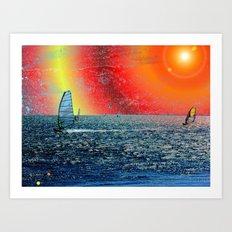 Wind, Surf and Sun Art Print
