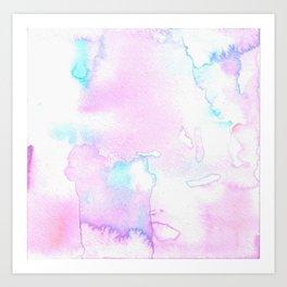 Cotton Candy Ink Blot Art Print