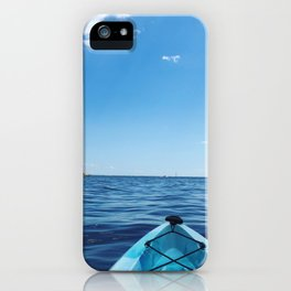 Bright Blue | Kayak on Severn River | Annapolis, MD iPhone Case