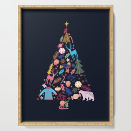 Magic of a christmas tree Serving Tray