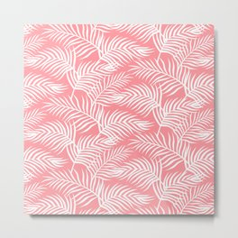 Palm Leaves_Pink Metal Print