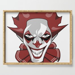 Clown Wicked Common Came creepy horror gift Serving Tray