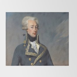 Portrait of Lafayette by Joseph désiré Court Throw Blanket