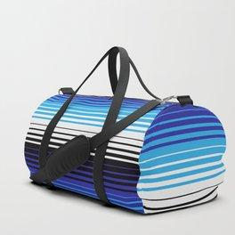 Deconstructed Serape in Blue Duffle Bag
