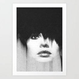 WOMEN (PORTRAIT) BLACK AND WHITE Art Print