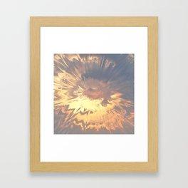 Sunset mandala explosion Framed Art Print