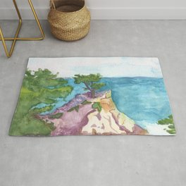 The Lone Cypress of Monterey Rug