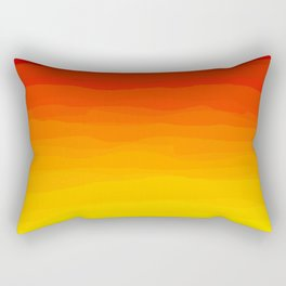 Red to Yellow Sunset Rectangular Pillow