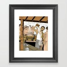 Coffee Man Framed Art Print