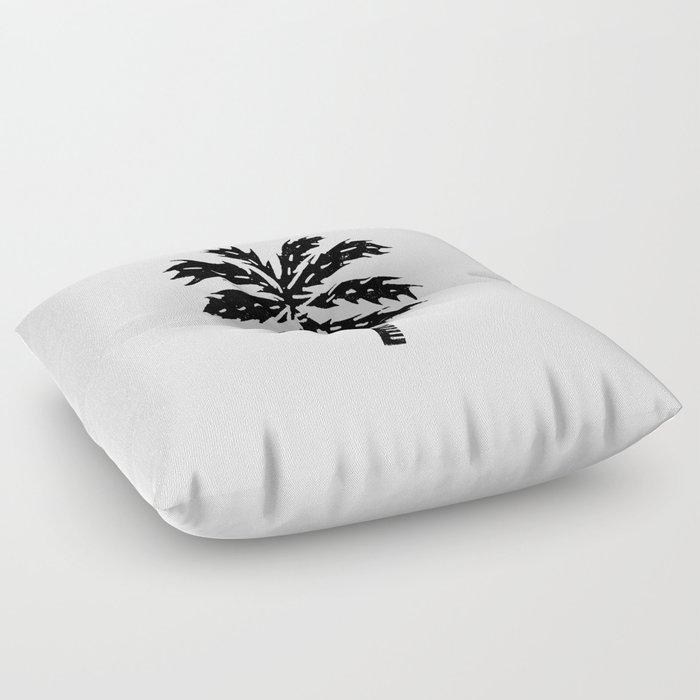 Palm Tree linocut minimal tropical black and white statement piece ...