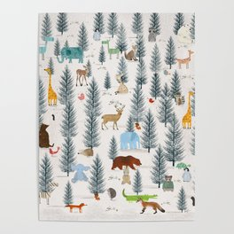 little nature woodland Poster