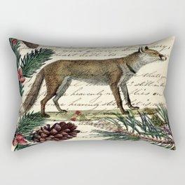 western country fairy rustic woodland nursery winter pine forest animal fox Rectangular Pillow