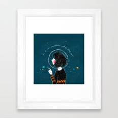 Space Quote Framed Art Print