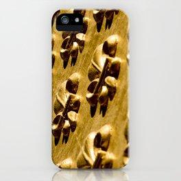 Parisian Gold Fluer De Lis Embossed Design iPhone Case