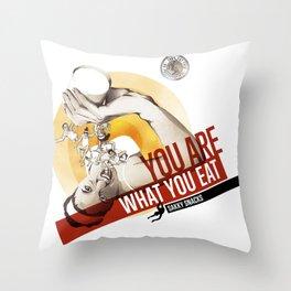 Sakky Snacks Throw Pillow
