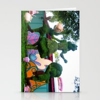 outdoor Stationery Cards featuring Outdoor Tea Party by Ashleigh E. Myers