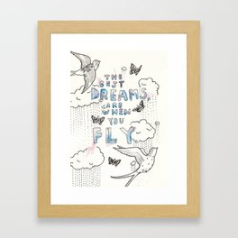 A dreamy collaboration: Dreams Framed Art Print