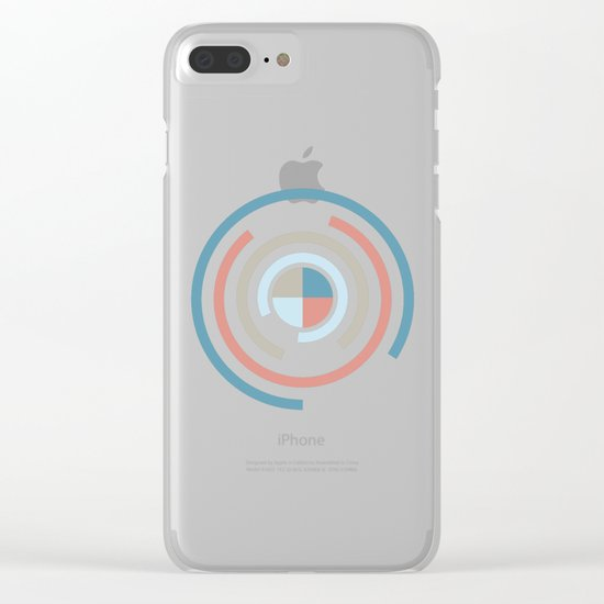Colorful Circles V Clear iPhone Case