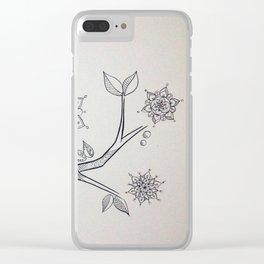 mandala tree 3 Clear iPhone Case