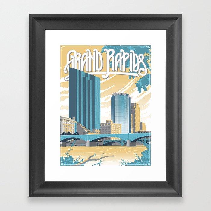 Vintage Grand Rapids Framed Art Print