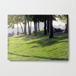 On the Hudson (Lazy Spring Afternoon) Metal Print