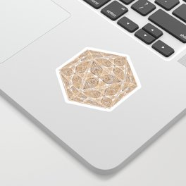 D20 Henna Icosahedron Sticker