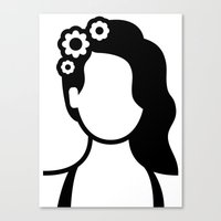 lana del rey Canvas Prints featuring Lana by triangle.cross