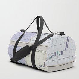 Candlestick Charts Duffle Bag