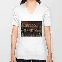 mineral V-neck T-shirts featuring Mineral City I by antecedence
