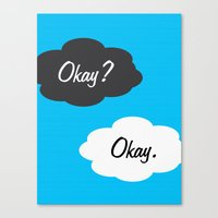 okay Canvas Prints featuring Okay by JDODesign