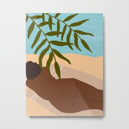 Beach Body Metal Print