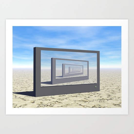 Flat Screen Desert Scene Art Print