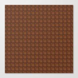 Just chocolate / 3D render of dark chocolate Canvas Print