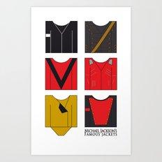 Michael's famous jackets Art Print